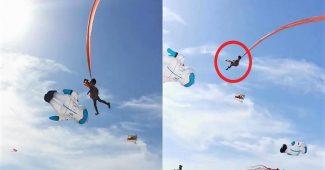 Bocah Terbang Ke Udara