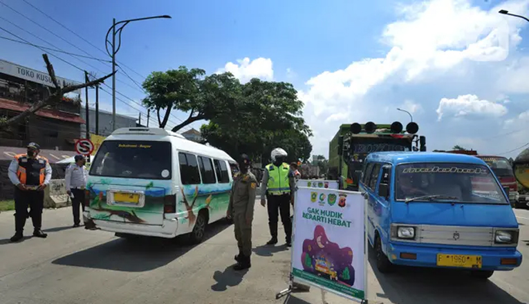 Dilarang Mudik, Petugas Gabungan Putar Balik 172 pemudik di Kota Bogor