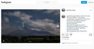 Kilatan Cahaya di Puncak Merapi, LAPAN: Meteor Sporadis