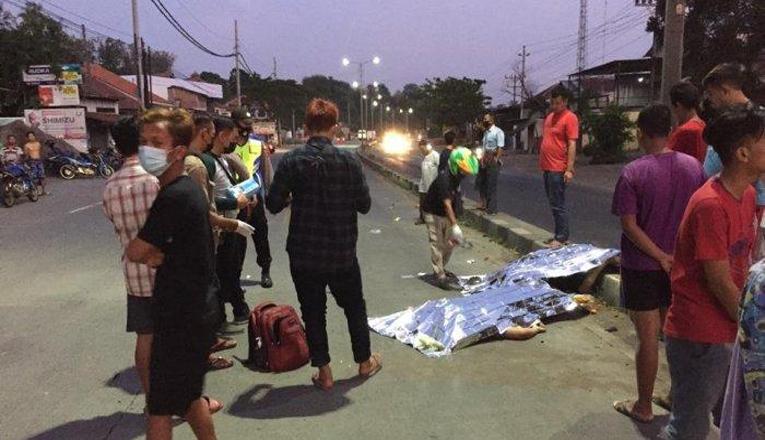 Kejar Truk Yang Menyerempetnya, Pengemudi Angkot Malah Tabrak Pengendara Motor, Korban Tewas Ditempat