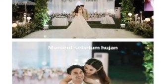 Begini Kisah Lengkap Pernikahan Outdoor Mewah Diterjang Hujan Lebat, Viral Bikin Sakit Hati