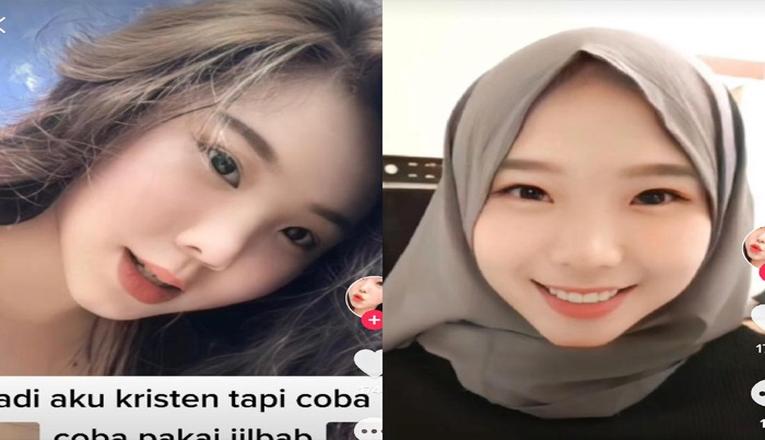 Wanita yang Viral Di TikTok Karena Suka Pakai Hijab Meski Non-Muslim